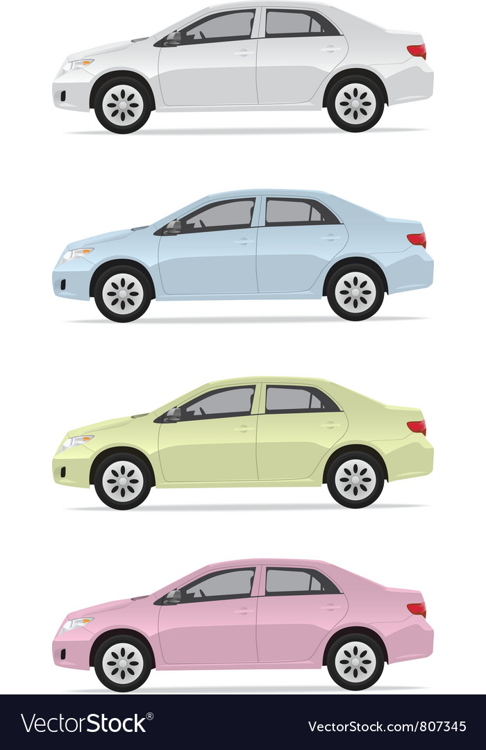 City cars vector