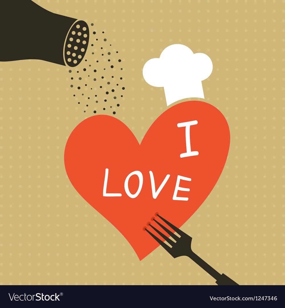 Cooking love vector
