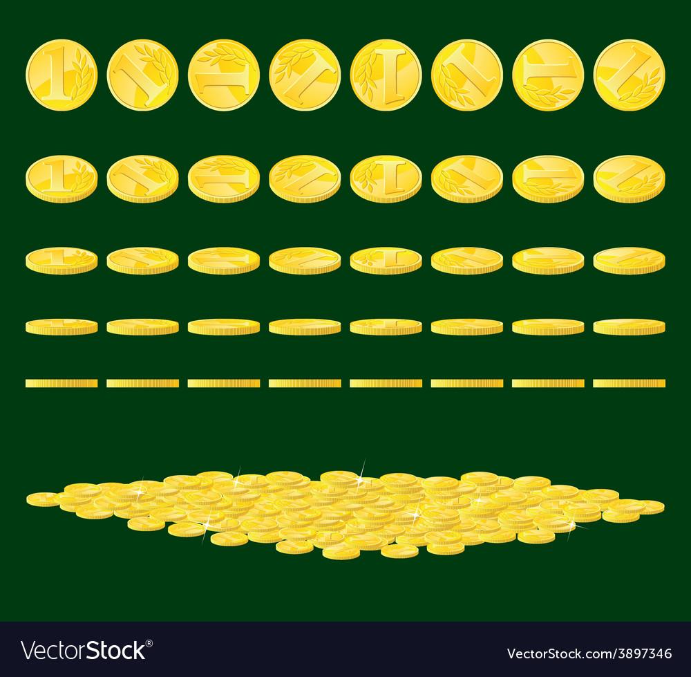 Golden coins vector