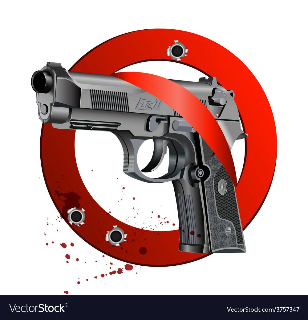 Handgun beretta elite bloody stop vector