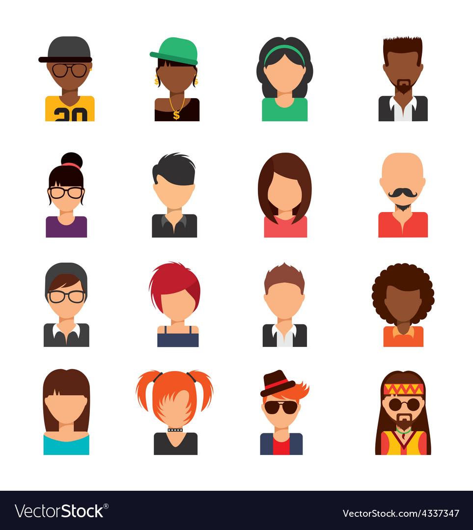 Person avatars vector