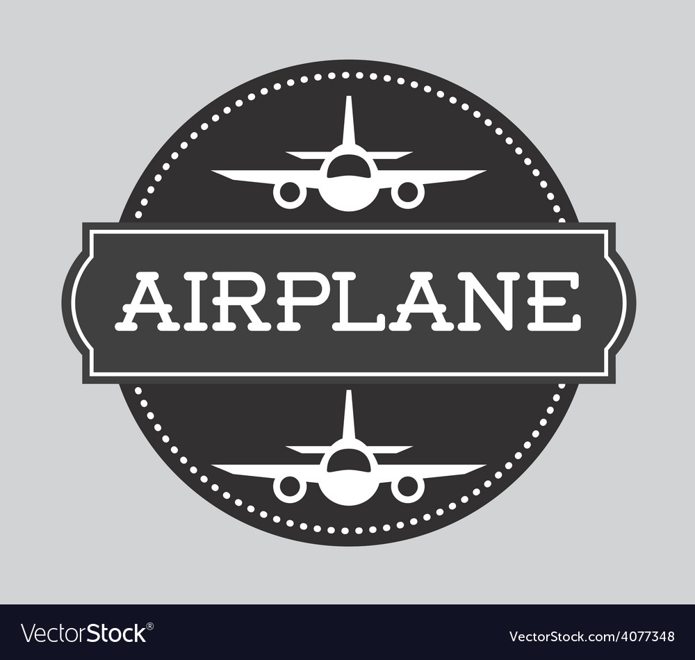 Airplane concept vector