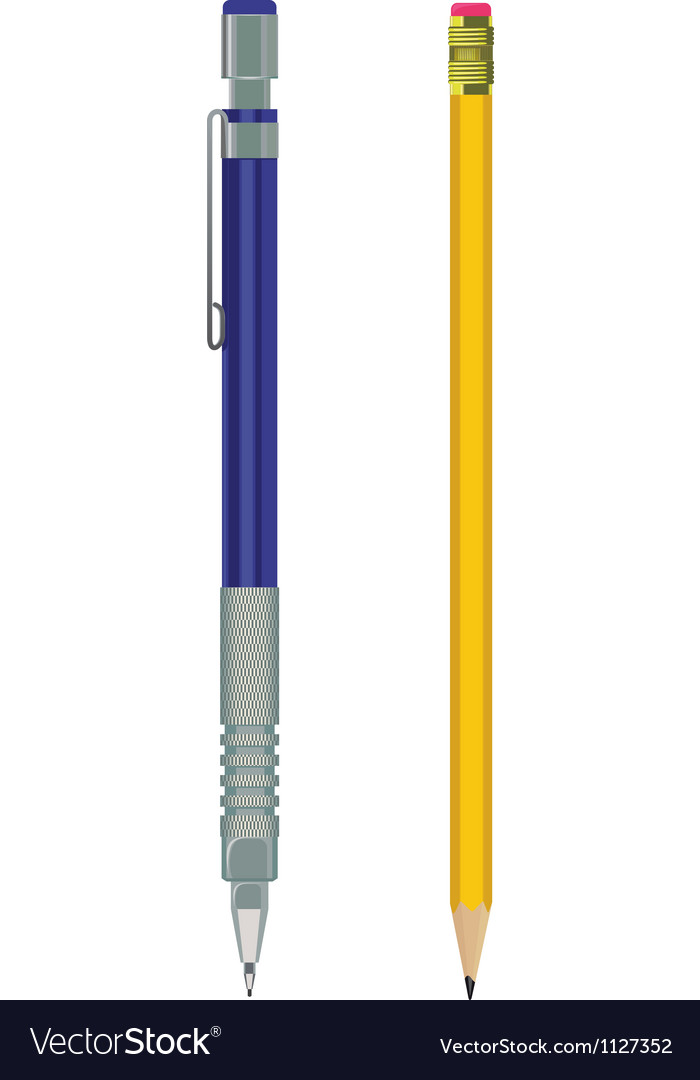 Pencil and automatic pencil vector