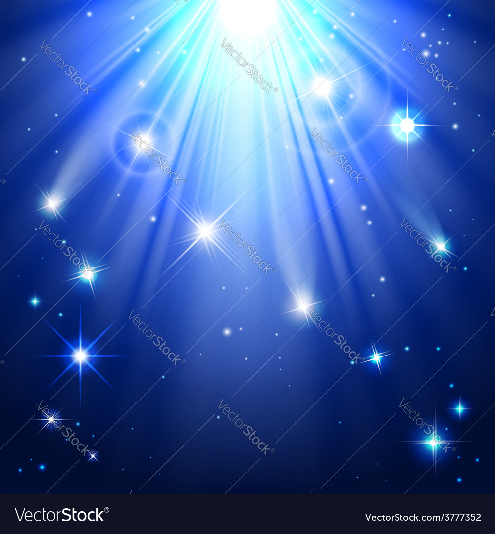 Stars with rays of light vector