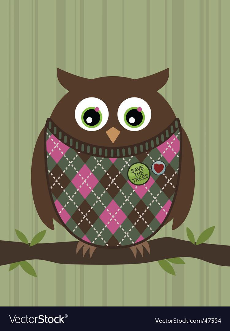 Perched owl vector