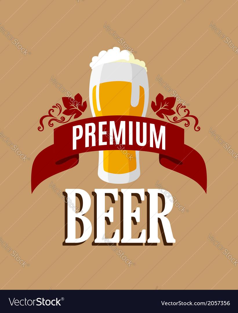 Lager beer banner vector