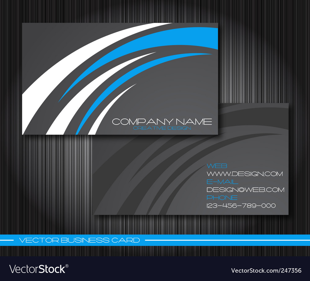 Set of business card vector