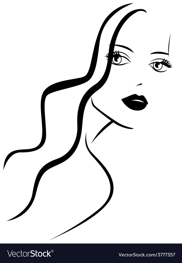 Stylish young woman vector