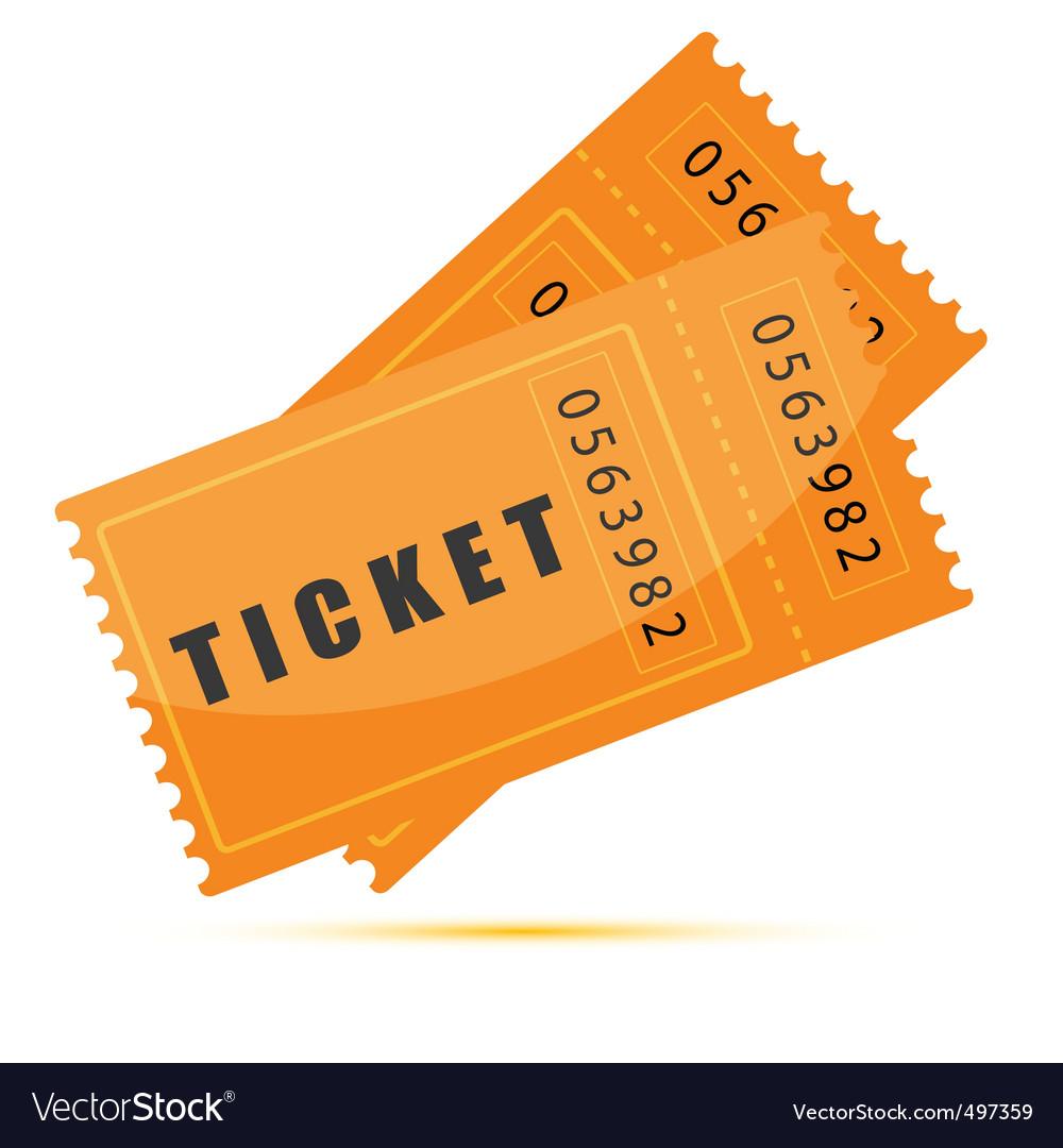Movie tickets vector