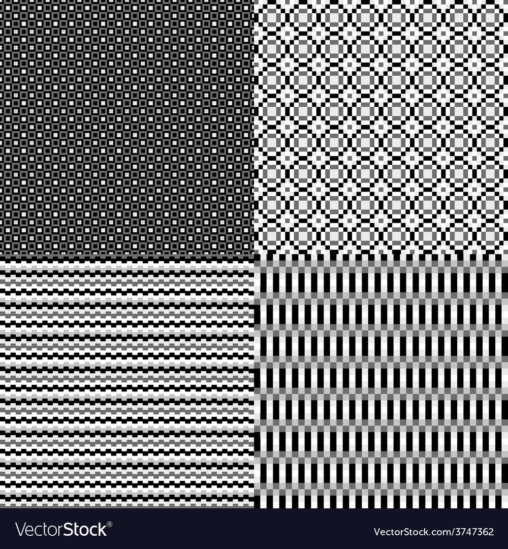 Pixel monochrome abstract neutral background vector
