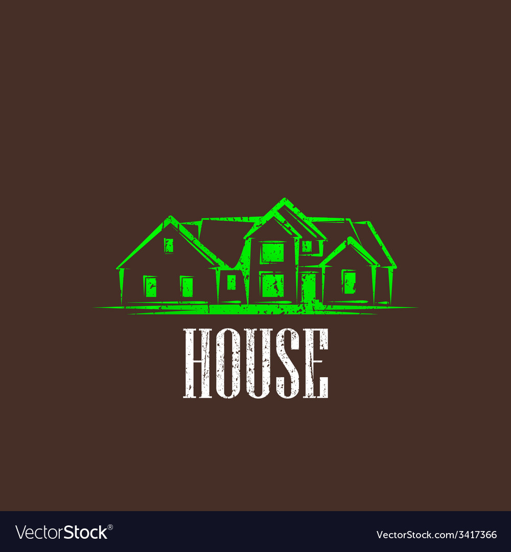Vintage with a house real estate sign vector