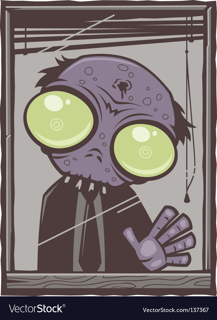 Office zombie cartoon vector