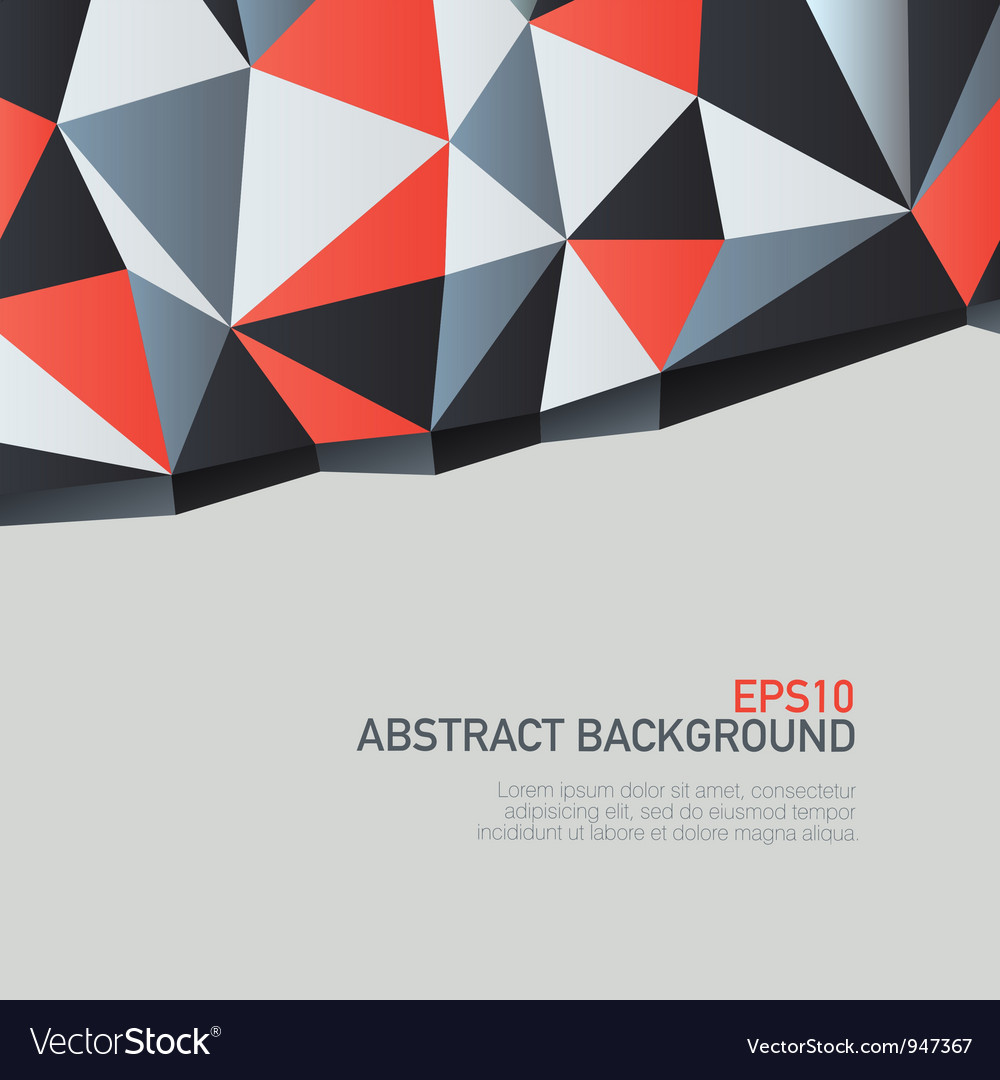 Triangles background with copyspace vector