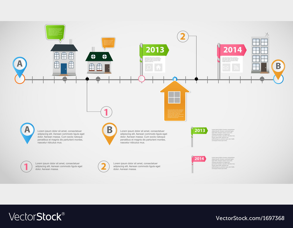 Timeline infographic business template vector
