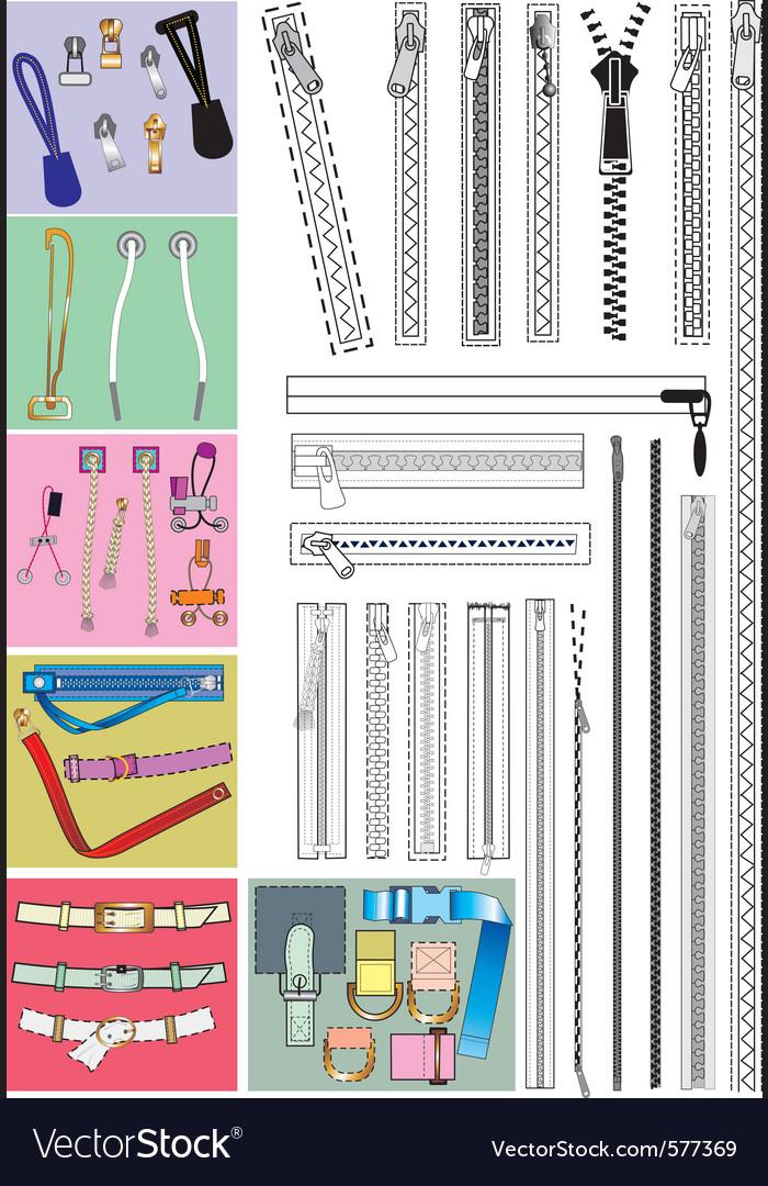 Accessories vector