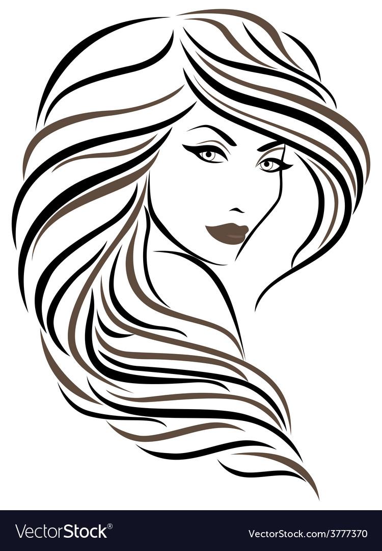 Beautiful young woman vector