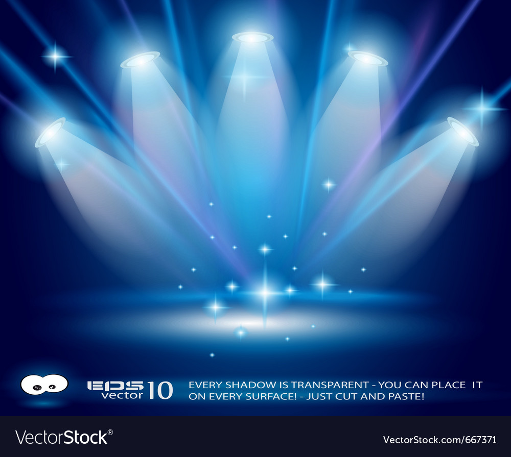 Magic spotlights vector