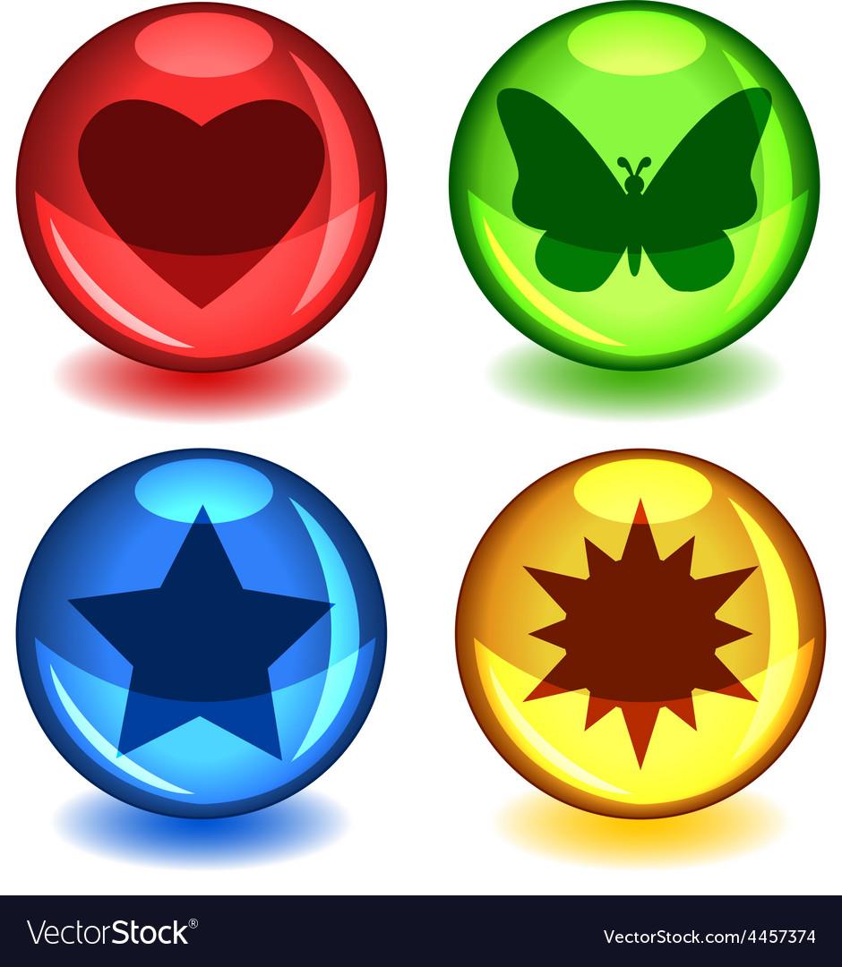 Colorful symbol spheres vector
