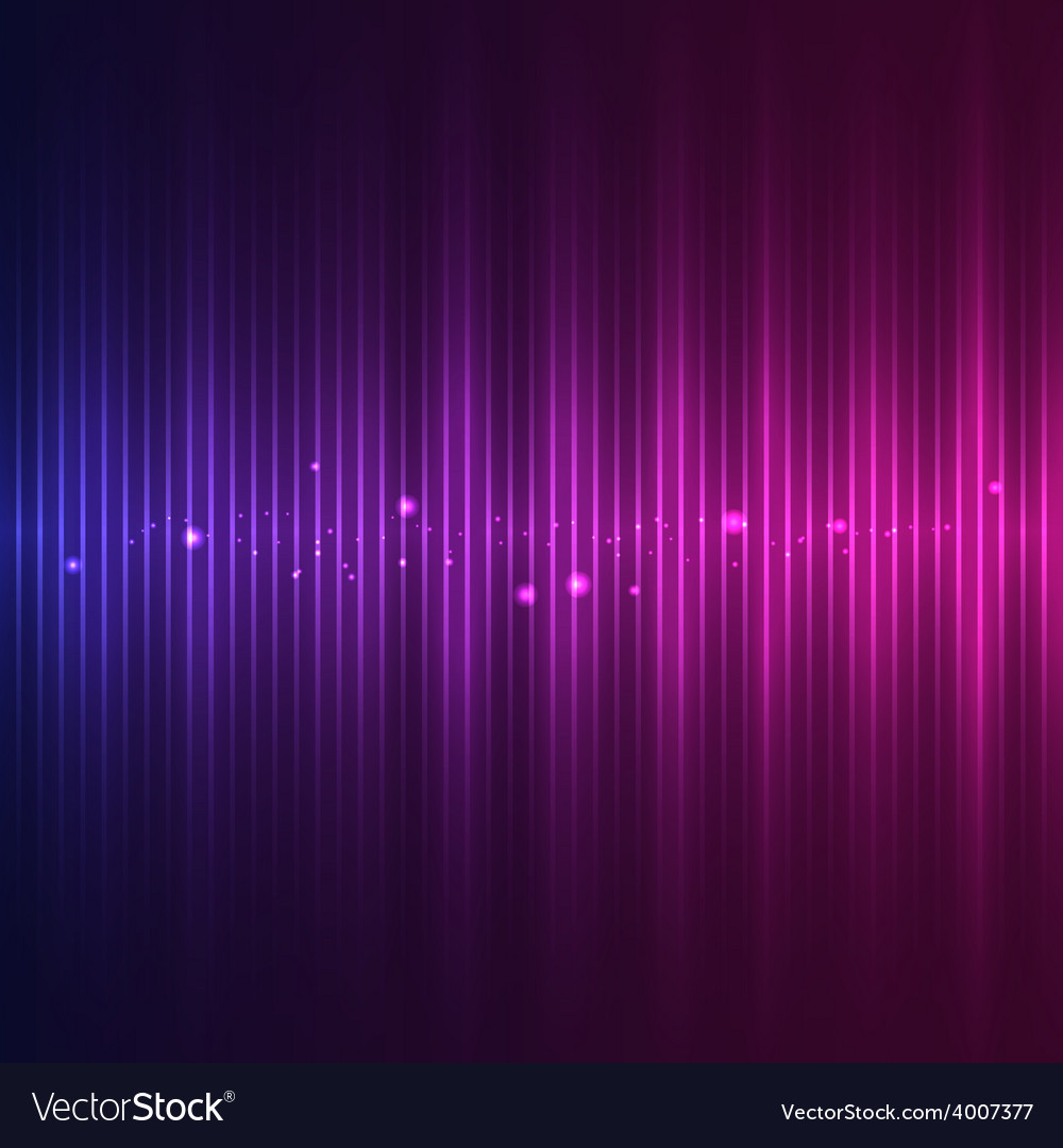 Abstract sound wave vector