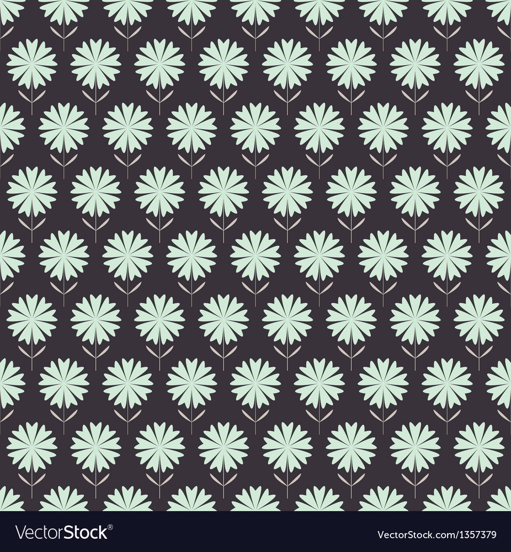 Seamless floral pattern with geometric flowers vector