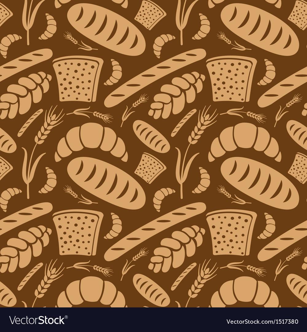 Bread pattern2 vector