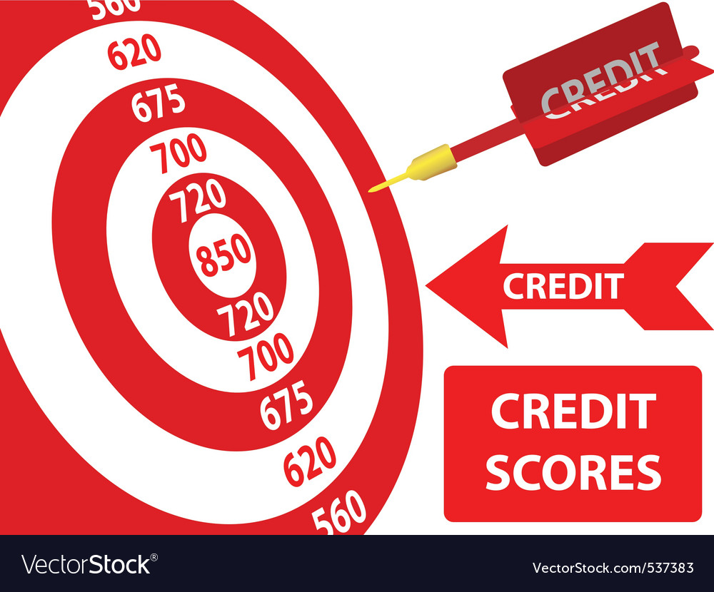 Bank credit report vector
