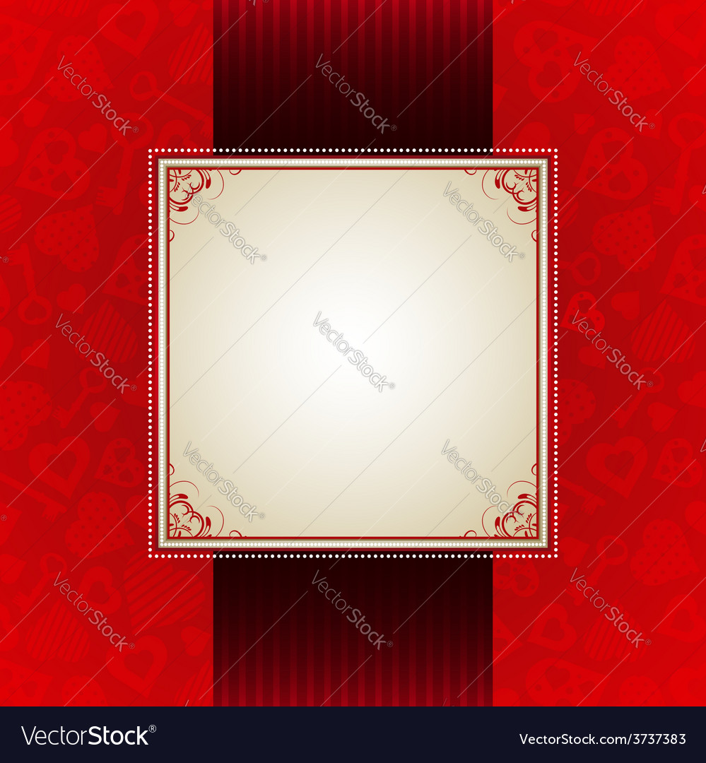 Red valentine background with many hearts vector