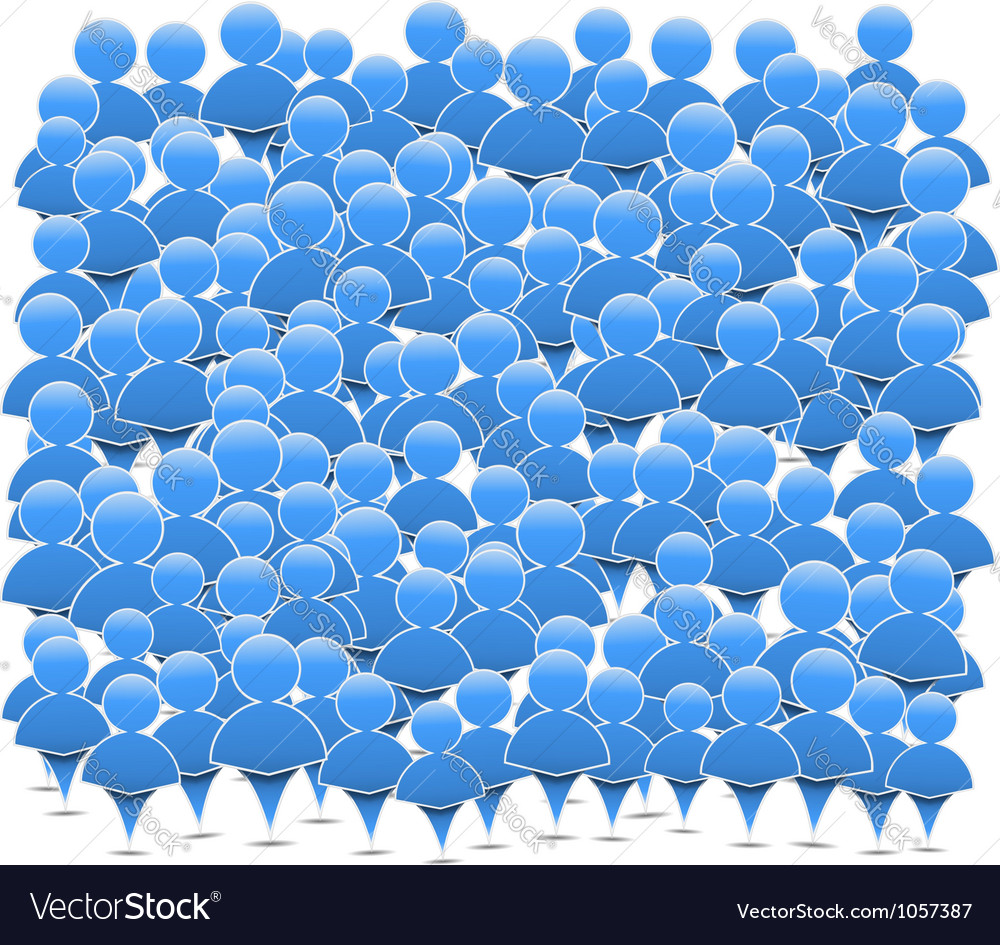 Abstract crowd of people vector