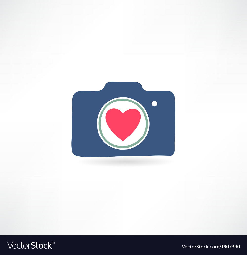 Camera icon i love photography vector