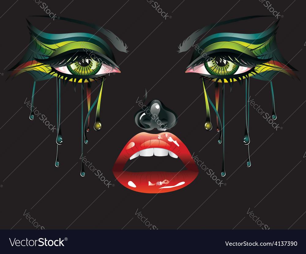 Carnival makeup vector