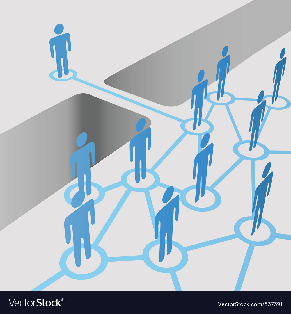 People connect vector