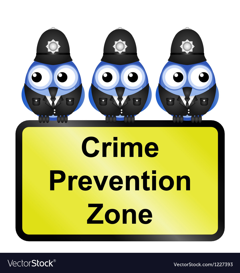 Crime zone uk vector