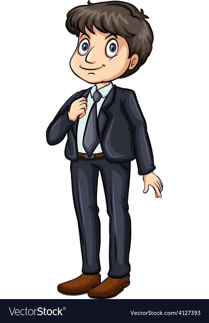 Man in a formal attire vector