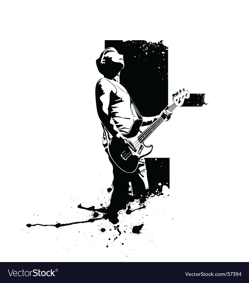 Guitar player vector