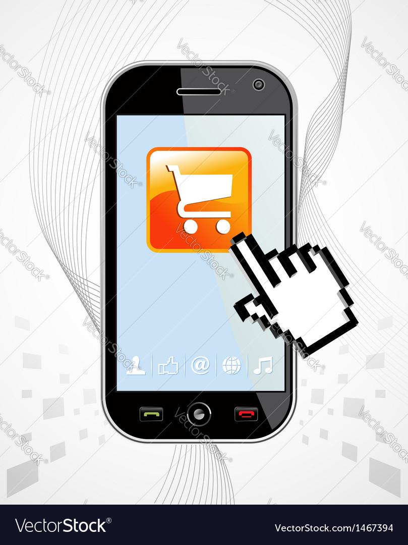 Smartphone buy application vector