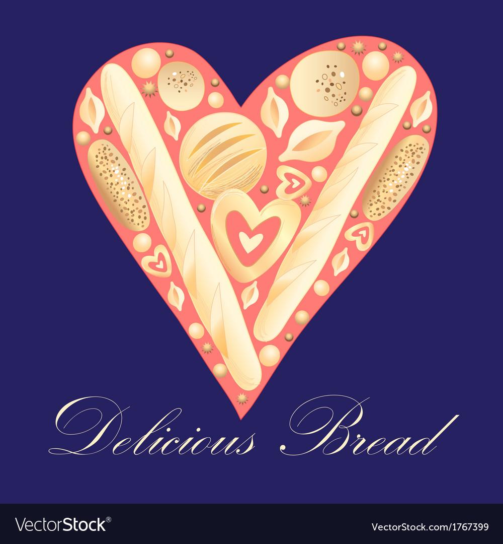 Delicious bread vector