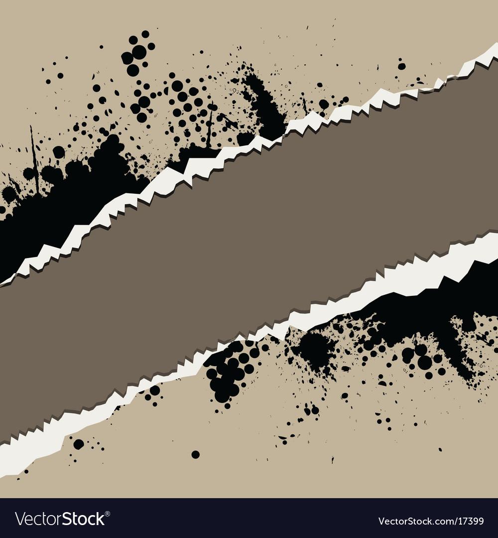 Grunge rip design vector
