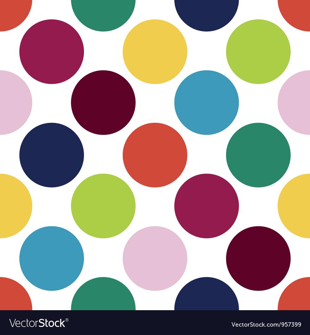 Retro polka dot pattern vector