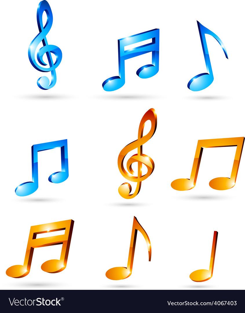 Music tones vector