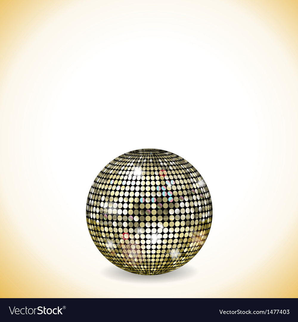 Reflective disco ball vector