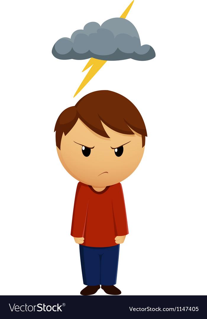 Bad mood vector