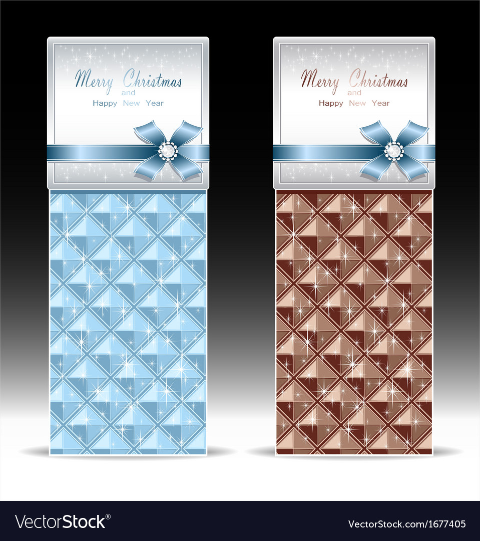 Banners or gift card with bow geometric pattern li vector