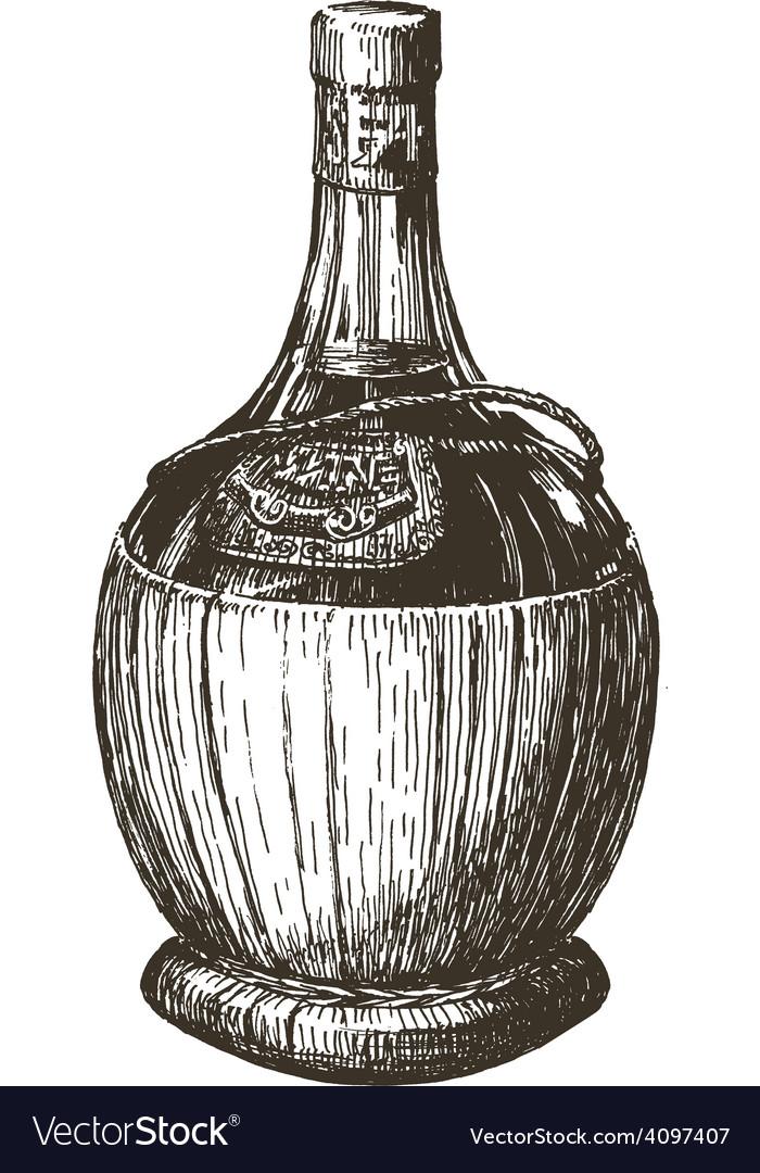 Wine bottle logo design template alcohol vector
