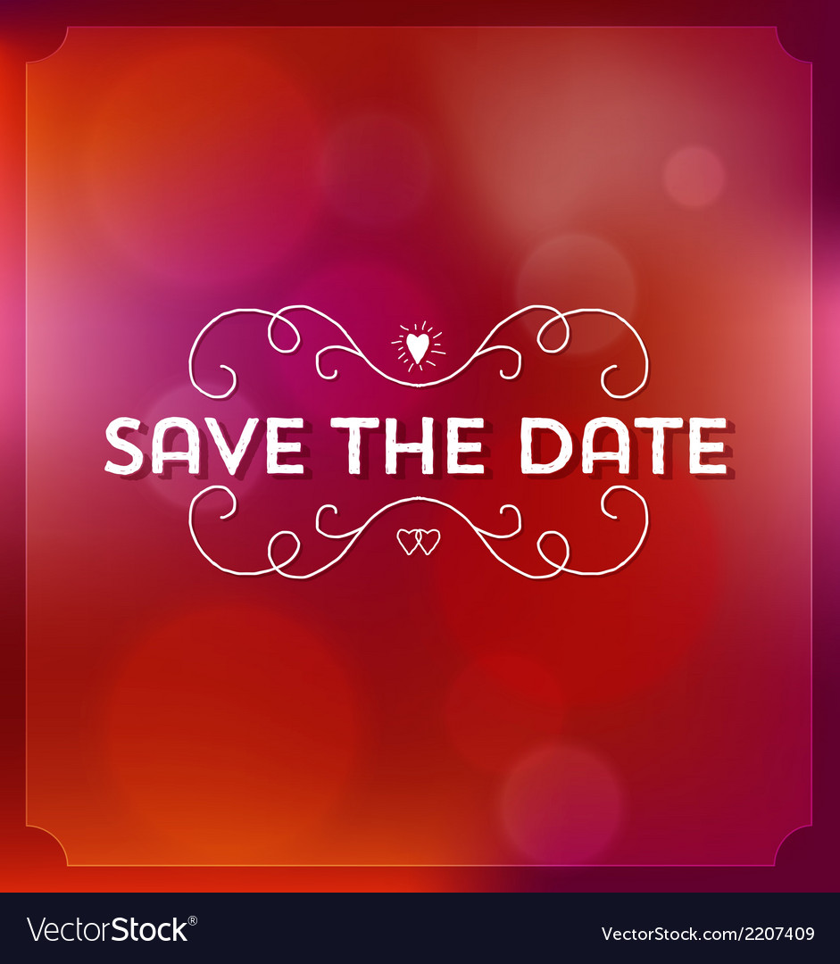 Save the date invitation vector