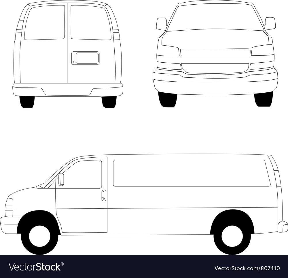 Delivery van lines vector