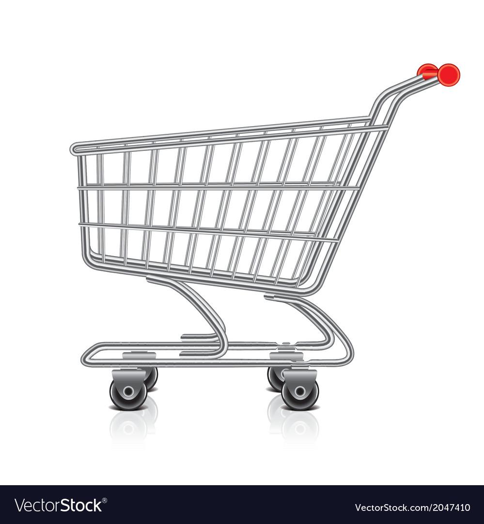 Object shopping cart vector