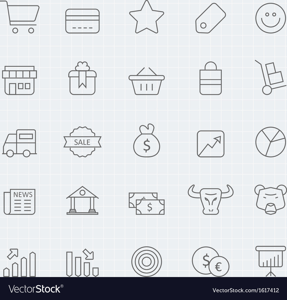 Business and shopping thin line symbol icon vector