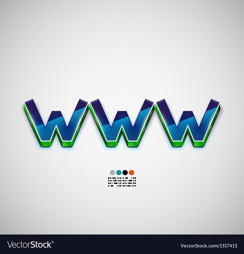 Www internet background vector