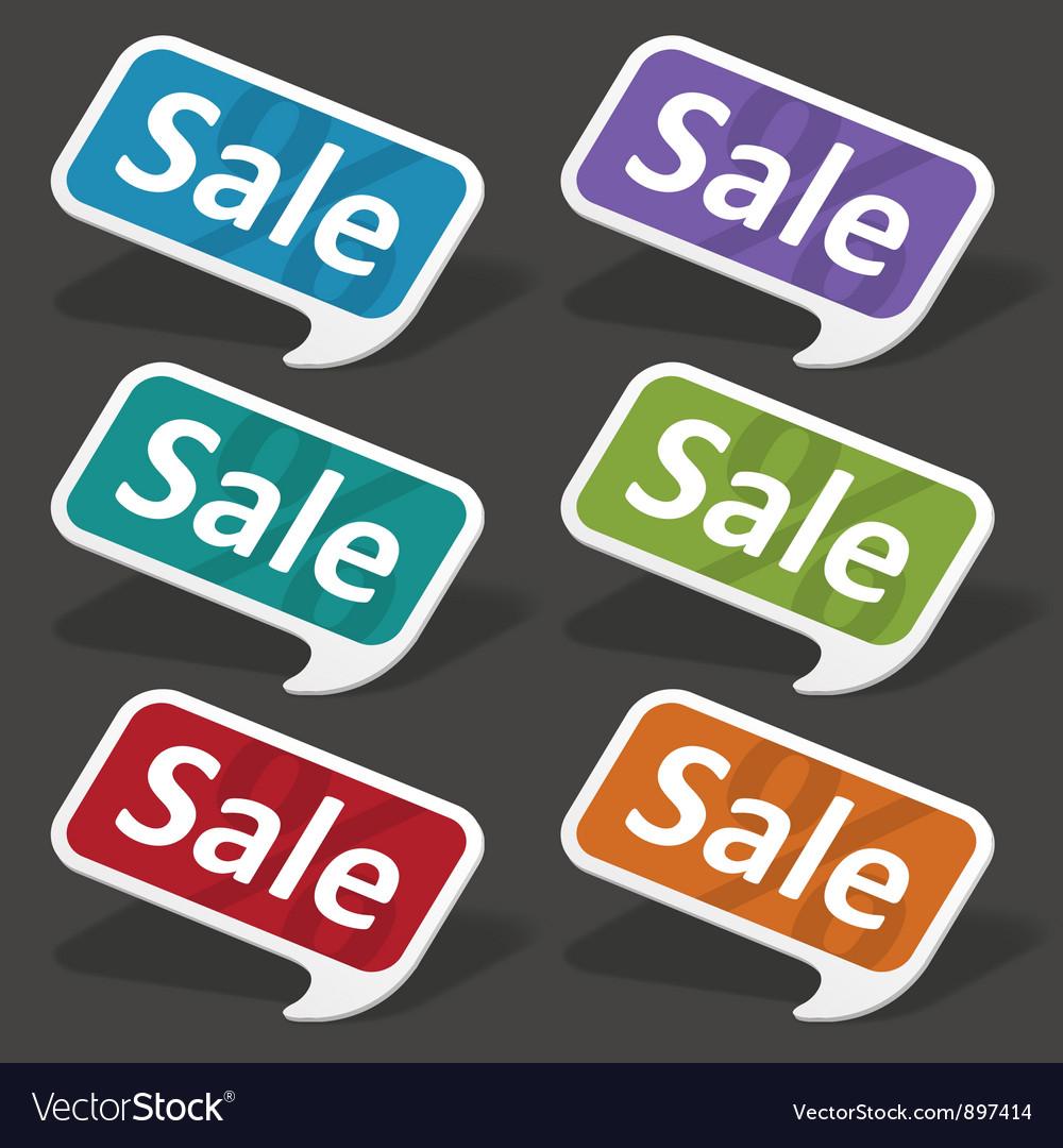 Sale speech bubbles set vector