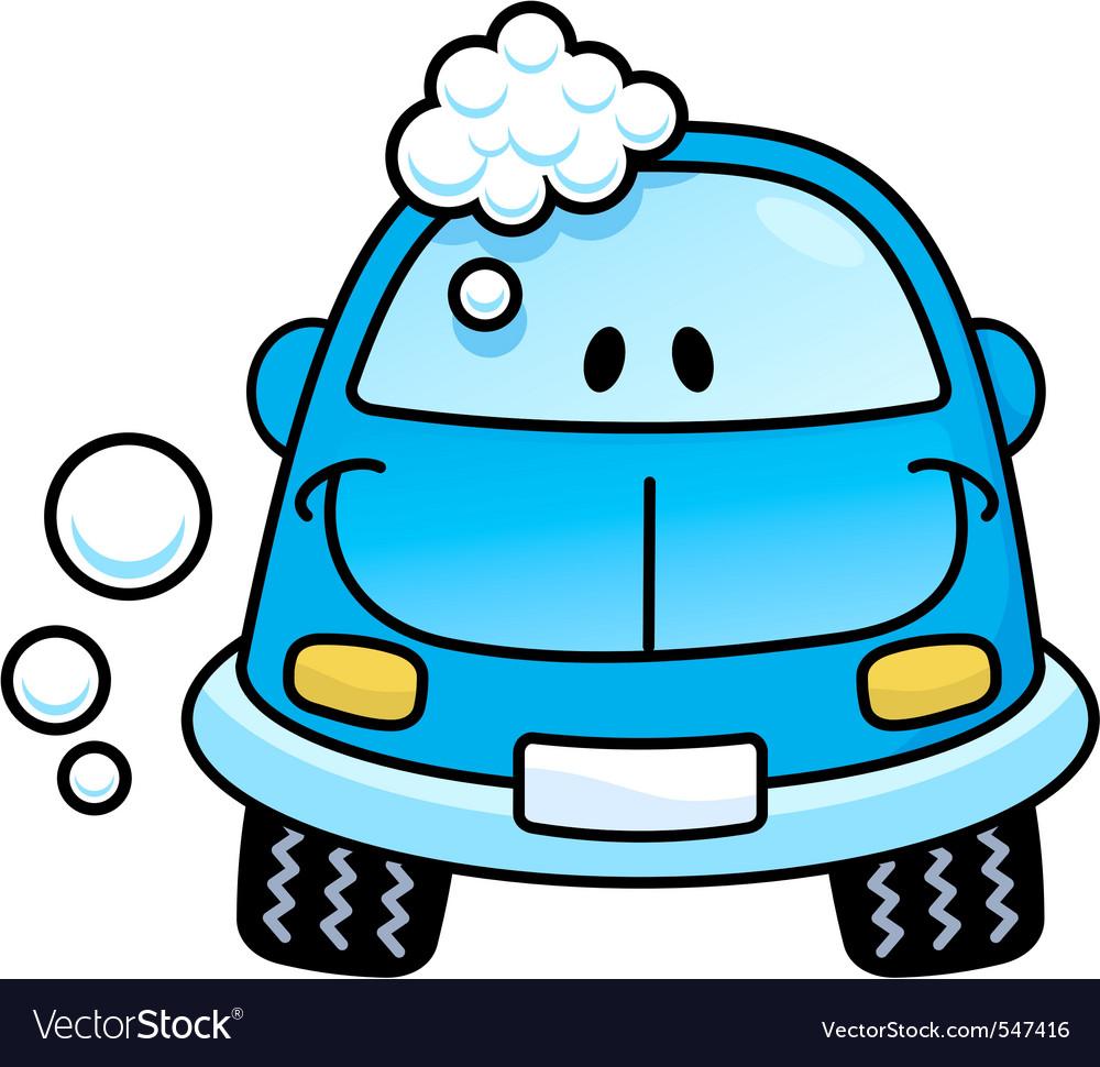 Car wash blue vector
